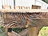 Стол деревянный под старину от производителя, фото 3