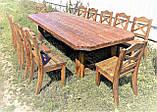 Стол деревянный под старину от производителя, фото 5