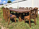 Стол деревянный под старину от производителя, фото 7