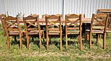 Стол деревянный под старину от производителя, фото 8