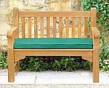Лавочка скамья со спинкой 1200 х 690 мм от производителя Garden park bench 04, фото 2