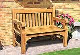 Лавочка скамья со спинкой 1200 х 690 мм от производителя Garden park bench 04, фото 5