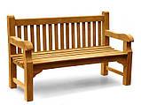 Лавочка скамья со спинкой 1340 х 690 мм от производителя Garden park bench 05, фото 2