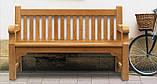 Лавочка скамья со спинкой 1340 х 690 мм от производителя Garden park bench 05, фото 3