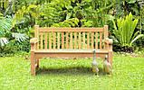 Лавочка скамья со спинкой 1340 х 690 мм от производителя Garden park bench 05, фото 4
