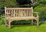 Лавочка скамья со спинкой 1540 х 670 мм. Деревянная лавка в Украине от производителя Garden park bench 11, фото 2