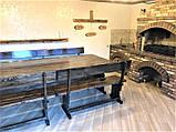 Садовая мебель из массива дерева 3000х1200 от производителя для дачи, ресторанов, комплект Furniture set - 22, фото 3