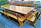 Садовая мебель из массива дерева 3000х1200 от производителя для дачи, ресторанов, комплект Furniture set - 22, фото 9