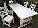 Садовая мебель из массива дерева 3000х1200 от производителя для дачи, ресторанов, комплект Furniture set - 22, фото 10