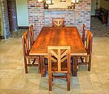 Садовая мебель 1900х900 из массива дерева от производителя для дачи, кафе, комплект Farmhouse Hand Made - 02, фото 5