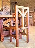 Садовая мебель 1900х900 из массива дерева от производителя для дачи, кафе, комплект Farmhouse Hand Made - 02, фото 6