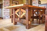 Садовая мебель 1900х900 из массива дерева от производителя для дачи, кафе, комплект Farmhouse Hand Made - 02, фото 7