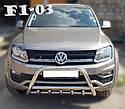 Кенгурятник с грилем (защита переднего бампера) Volkswagen Amarok 2016+, фото 2
