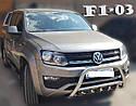 Кенгурятник с грилем (защита переднего бампера) Volkswagen Amarok 2016+, фото 3