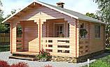 Баня деревянная из профилированного бруса 5.0х5.5, фото 2