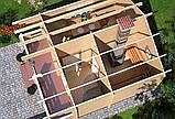 Баня деревянная из профилированного бруса 4.5х5, фото 3