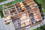 Баня деревянная из профилированного бруса 6х6.8, фото 3