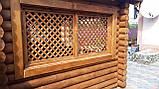 Беседка деревяная из оцилиндрованного бревна 4х5, фото 3