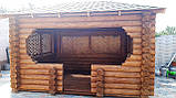 Беседка деревяная из оцилиндрованного бревна 4х5, фото 4