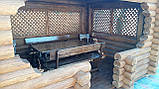 Беседка деревяная из оцилиндрованного бревна 4х5, фото 6