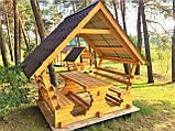 Деревянная беседка из мини бруса, закрытая  3,0 х 3,0 м.  низкая цена от производителя, фото 3