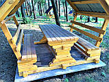 Деревянная беседка из мини бруса, закрытая  3,0 х 3,0 м.  низкая цена от производителя, фото 6