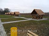 Деревянная беседка из мини бруса, закрытая  3,0 х 3,0 м.  низкая цена от производителя, фото 9