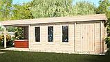 Беседка деревянная из профилированного бруса с закрытой комнатой  9х3 м. низкая цена от производителя, фото 2