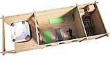Беседка деревянная из профилированного бруса с закрытой комнатой  9х3 м. низкая цена от производителя, фото 3