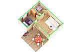 Беседка деревянная из профилированного бруса с закрытой комнатой  5х6 м. низкая цена от производителя, фото 2