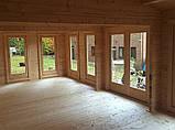 Беседка деревянная из профилированного бруса с закрытой комнатой 8.4х4.6 м. низкая цена от производителя, фото 2