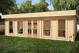 Беседка деревянная из профилированного бруса с закрытой комнатой 8.4х4.6 м. низкая цена от производителя, фото 3