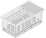 Беседка деревянная из профилированного бруса с закрытой комнатой 8.4х4.6 м. низкая цена от производителя, фото 5