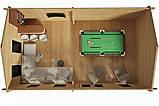 Беседка деревянная из профилированного бруса с закрытой комнатой  7х4 м. низкая цена от производителя, фото 2