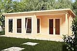 Беседка деревянная из профилированного бруса с закрытой комнатой  7х4 м. низкая цена от производителя, фото 4