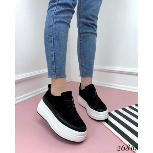 Сникерсы туфли на толстой подошве