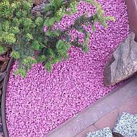 Цветной щебень розовый 5-10 мм