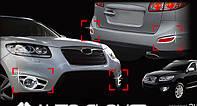 Хром накладки на галогенки Hyundai Santa Fe 2009-2012 (Autoclover/Корея/B663), фото 1