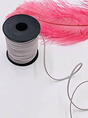 Замшевый шнурок серый