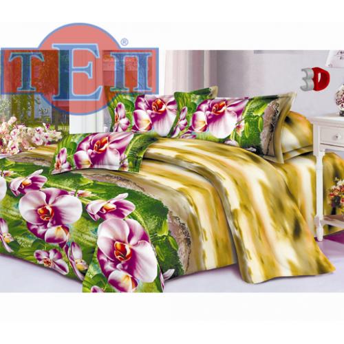 Качественное постельное белье ТЕП  RestLine 102  «Орхидея» 3D дешево от производителя.