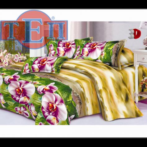 Качественное постельное белье ТЕП  RestLine 102  «Орхидея» 3D дешево от производителя., фото 2