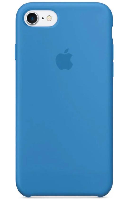 Задняя накладка Hi-Copy Silicone Case APPLE IPHONE 7 | 8 (№16 BLUE)