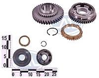 Шестерня КПП 1-передачи ВАЗ 21083 в сборе (муфта, шестерня, синхронизатор) (производство Волжский)
