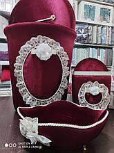 Набор корзин для ванной комнаты ART OF SULTANA 3 предмета Вишневый