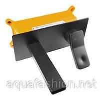 Чорний настінний змішувач для умивальника Unique ASIGNATURA 85501902