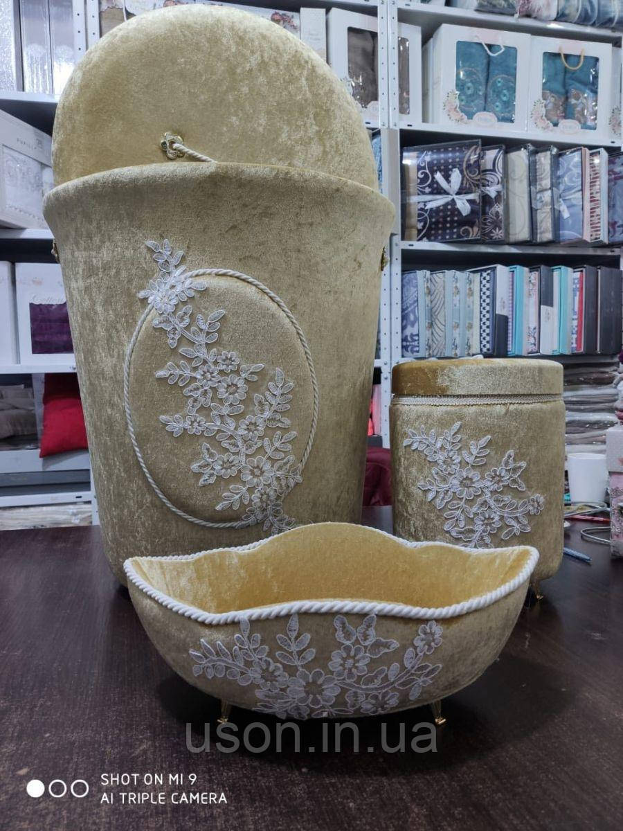 Набор корзин для ванной комнаты ART OF SULTANA 3 предмета Бежевый