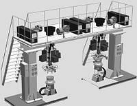 Четырехголовочная установка АС340 для сварки автомобильных колес (кольцевых швов)