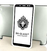 Samsung j6 2018, j600 защитное стекло на телефон противоударное 5D Full Glue черное Black