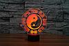"3D светильник ""Инь и Ян"" - Фото"