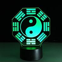 """3D светильник """"Инь и Ян"""""""